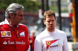 Arrivabene, Vettel